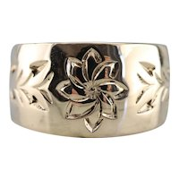 Sweet Etched Floral Band