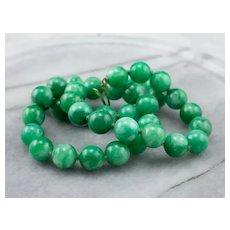Vintage Jade Bead Necklace