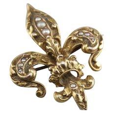Antique Fleur De Lis Pin or Pendant