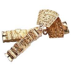 Mayan Gods 18 Karat Gold Drop Earrings
