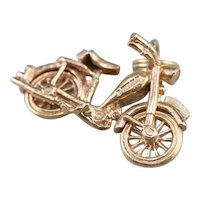 Vintage Motorcycle Charm Pendant