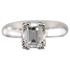 GIA Certified Emerald Cut Diamond Upcycled Ring