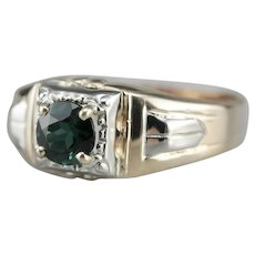 Men's Green Tourmaline Upcycled Ring