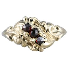 Victorian Bohemian Garnet Ring