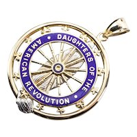 Daughters of the American Revolution Pendant