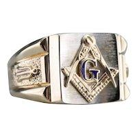 Men's Mixed Metal Masonic Ring