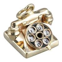 Hello, I Love You Telephone Charm