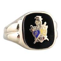 Men's Knight of Pythias Onyx Ring