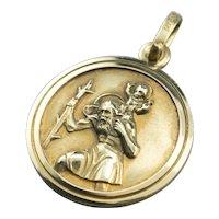 Religious Saint Christopher Medallion