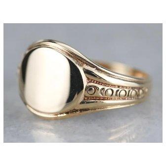 Vintage Unisex East West Signet Ring