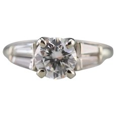 Upcycled Retro GIA Certified Diamond Engagement Ring