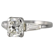 Upcycled Modified Square Brilliant Cut Diamond Ring
