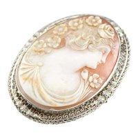 Stunning Art Deco Cameo Brooch or Pendant