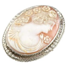 Stunning Art Deco Cameo Brooch or Pendant
