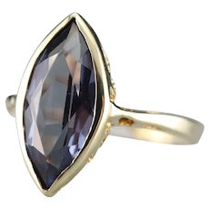 Vintage Marquise Cut Synthetic Alexandrite Ring