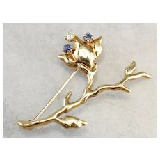 Vintage Tiffany and Company Flower Brooch