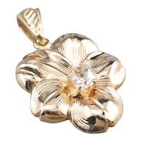 Old Mine Cut Diamond Flower Pendant