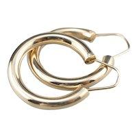 Classic Yellow 14 Karat Gold Hoop Earrings