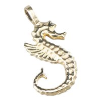 Nautical Seahorse Charm Pendant