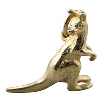 Detailed 18K Kangaroo Charm
