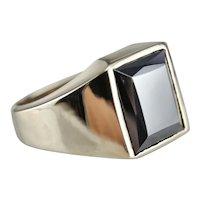 Men's 1950's Hematite Ring