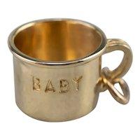 Vintage Baby Cup Charm Keepsake