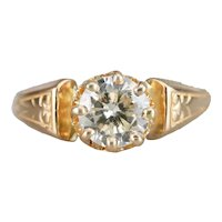 Stunning Upcycled Diamond Solitaire Ring