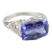 Lovely Upcycled Tanzanite Solitaire Ring