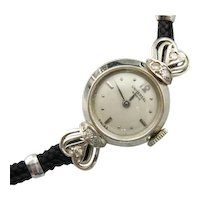 Vintage Geneve Ladies Wrist Watch with Diamond Accents