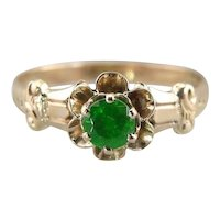 Upcycled Buttercup Demantoid Garnet Solitaire