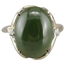 Jade Cabochon Cocktail Ring
