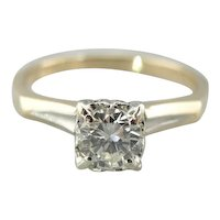 Classic Diamond Engagement Ring, Pretty, Vintage and Feminine
