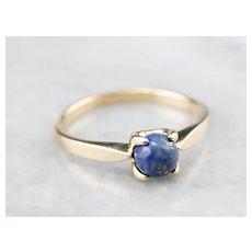 Sweet Lapis Lazuli Solitaire Ring