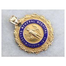 Massachusetts Antique 1873 M.G.H Training School Medallion