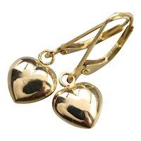Sweet Vintage Heart Drop Earrings