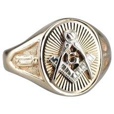 Vintage Masonic Men's Ring