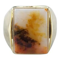 Men's Bold Agate Statement Ring