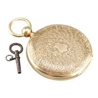 Antique 1860's J.W. Tucker San Francisco Pocket Watch