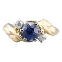 Botanical Sapphire and Diamond Ring
