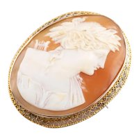 Greek God Apollo Cameo Brooch