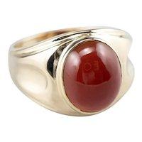 Retro Era Men's Carnelian 10 Karat Gold Ring