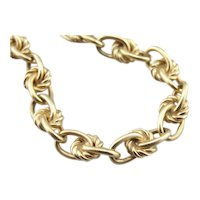Vintage 14K Gold Bracelet with Nautical Knot Link