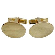 Vintage Cufflinks, Simple Cufflinks, Plain Oval Cufflinks