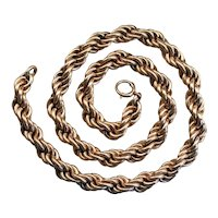 Vintage Gold Fill Rope Twist Chain