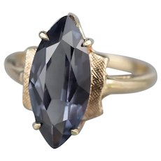 Synthetic Alexandrite Marquise Ring
