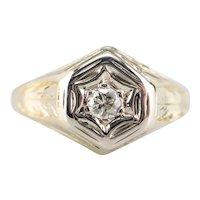 Vintage European Cut Diamond Ring