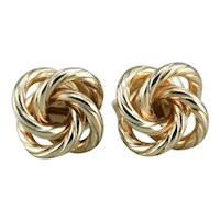 Vintage Lover's Knot Stud Earrings