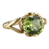 Upcycled Peridot Solitaire Ring