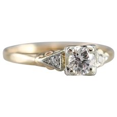 Upcycled Round Brilliant Diamond Ring