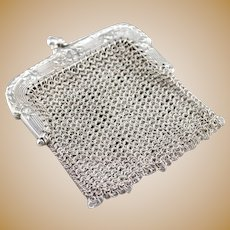Vintage Art Deco Floral Mesh Coin Purse